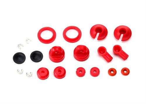Traxxas Rebuild kit, oil-filled shocks (o-ring, bladder, piston, shaft guide, E-clips, shock cap, shock rod end) renews 2 shocks