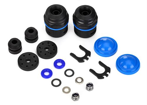 Traxxas X-Maxx GTX Shock Rebuild Kit (lower cartridge, assembled, pistons, piston nuts, bladders) (renews 2 shocks)
