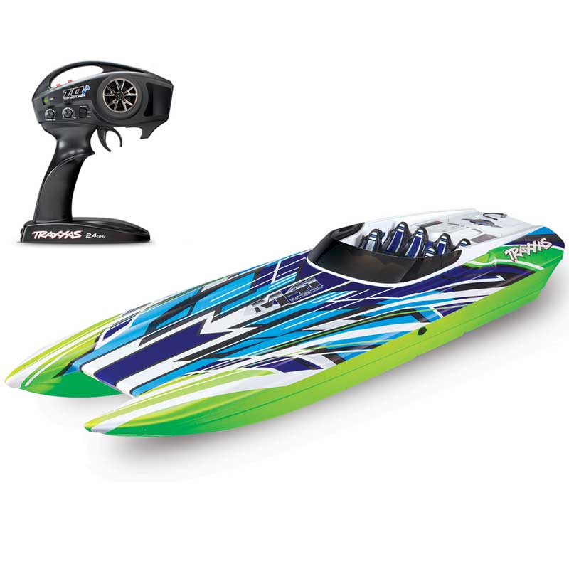 Traxxas DCB M41 40-Inch Brushless Catamaran Ready-to-Race Boat with GreenX Color Scheme