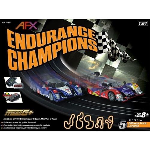 AFX Endurance Champions Slot Car Set w/Digital Lap Counter
