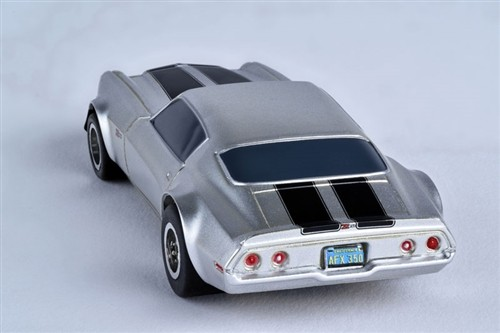 AFX 1970 Chevy Camaro Z28 Silver Mega-G+ HO Slot Car