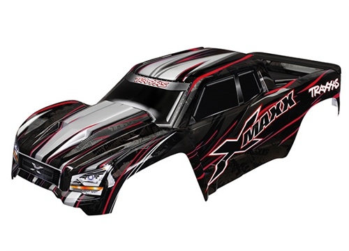 Traxxas X-Maxx Red Painted Body with Tailgate Protector