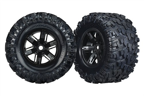 Traxxas X-Maxx 8S-Rated Maxx AT Tires & Wheels (2) (assembled, pre-glued)