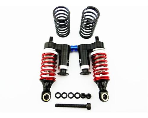 Hot Racing Black Aluminum Piggyback Adj. Rebound Shocks for 1/16 E-Revo, Slash, Rally, Summit