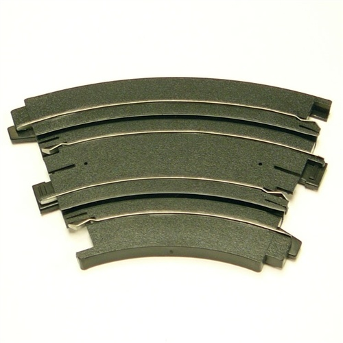 AFX HO Slot Car 6-Inch Radius 1/8 Curve Track Section - BULK