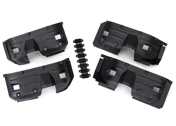 Traxxas TRX-4 Front & Rear Inner Fenders & Rock Light Covers (8)