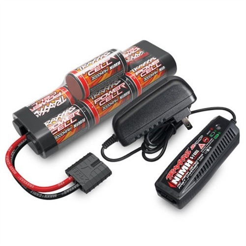 Traxxas 2-Amp Wall Charger & 3000mAh 7-Cell 8.4V Hump Pack Battery