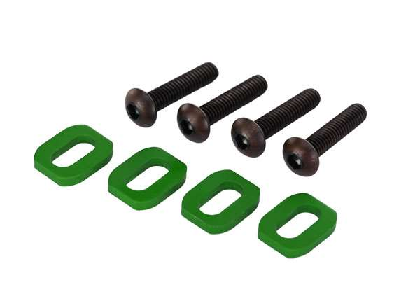 Traxxas X-Maxx Green Aluminum Motor Mount Washers & Screws (4)