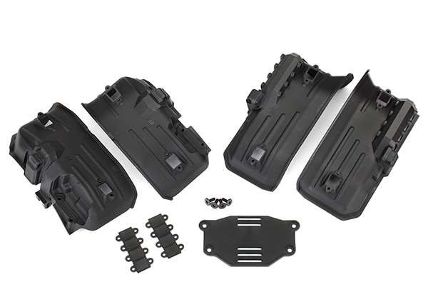 Traxxas TRX-4 Inner Fenders, Rock Light Covers, Battery Plate & 3x8 Screws (4)