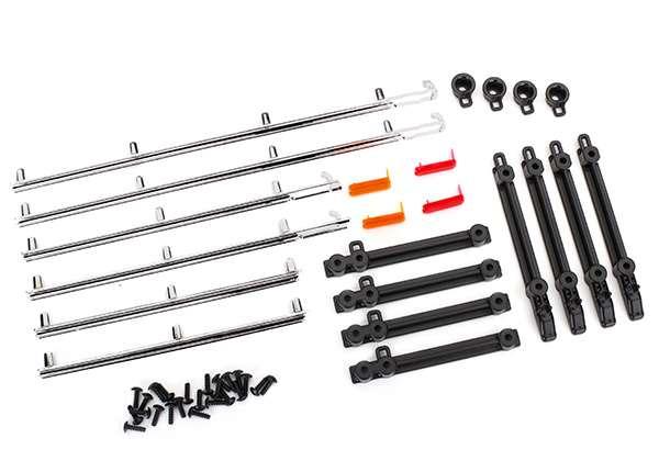 Traxxas TRX-4 Ford Bronco Chrome Side Trim, Retainers, LED Lens & 2.6x8 Screws (24)