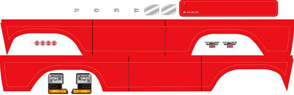 Traxxas TRX-4 Ford Bronco Red Decal Sheet