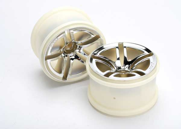 "Traxxas Twin-Spoke 2.8"" Front Wheels: Jato 2.5 & 3.3"