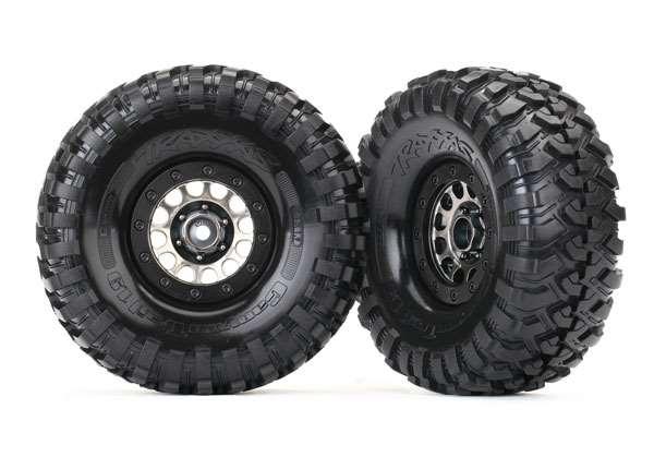 Traxxas Method 105 Black Chrome 1.9 Beadlock Wheels & Canyon Trail Tires