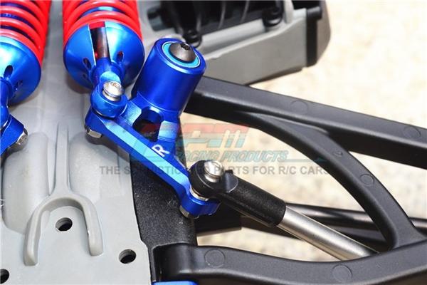GPM Black Aluminum 90T P2 Rear Rocker Arm Set for E-Revo & E-Revo 2.0