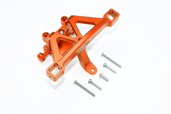 GPM Orange Aluminum Front Body Mount Set for E-Revo 2.0, Revo 3.3, Slayer, Summit