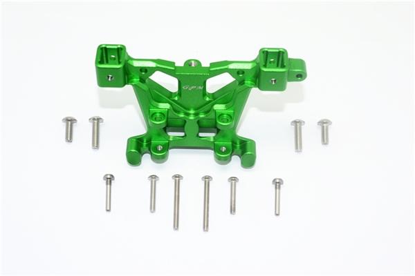 GPM Green Aluminum Rear Body Post Mount for E-Revo 2.0, Revo 3.3, Slayer, Summit