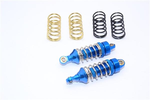 GPM Blue Aluminum Shocks w/3 Spring Sets for 1/16 E-Revo Summit Slash