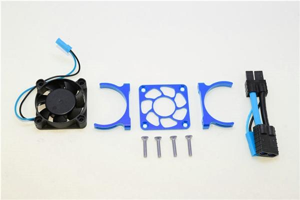 GPM Blue Aluminum Motor Heatsink Fan for Slash 4x4 LCG, Stampede, Rustler