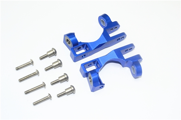 GPM Blue Aluminum Front Caster Blocks for 4x4 Slash Rustler Stampede Rally XO-1