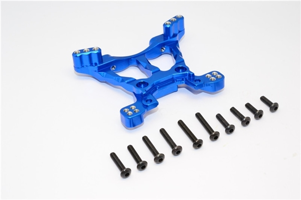 GPM Blue Aluminum Front Shock Tower for 4x4 Slash Stampede Rally