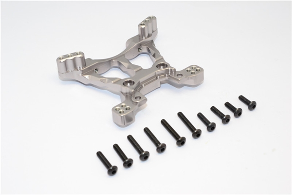 GPM Gunmetal Aluminum Front Shock Tower for 4x4 Slash Stampede Rally