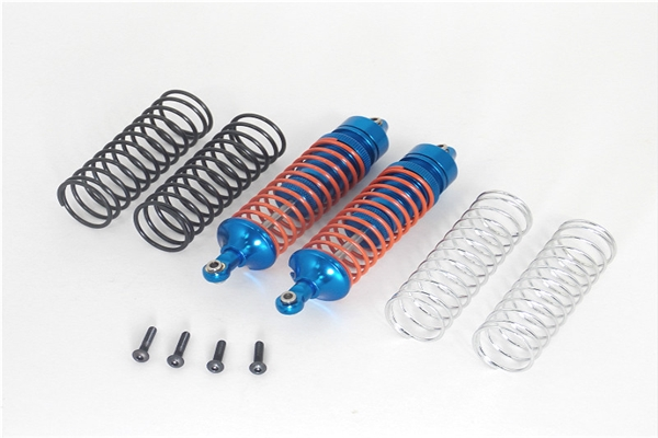 GPM Blue Aluminum Rear Shocks for 4x4 Slash Rustler Stampede