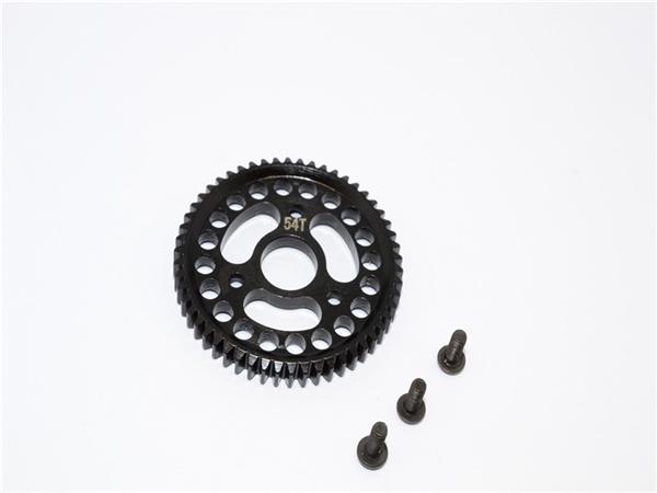 GPM Black Steel 54-Tooth 32P/0.8M Spur Gear for 4x4 Slash Stampede Rustler Jato T-Maxx 3.3