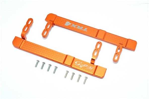 GPM Orange Aluminum Side Step Rock Sliders for TRX-4