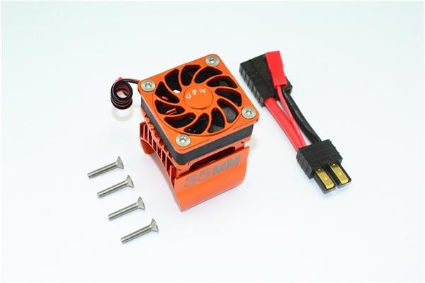 GPM Orange Aluminum 35mm Motor Heatsink & Fan for TRX-4