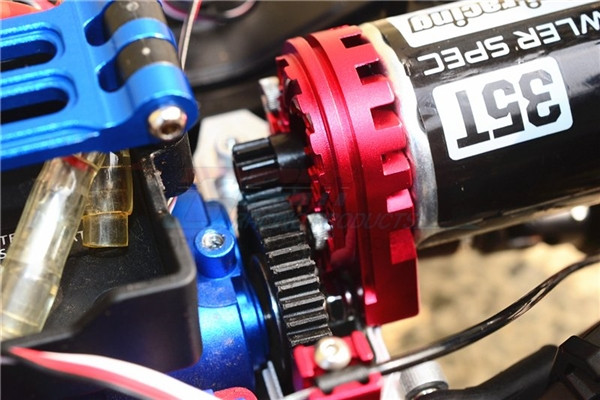 GPM Gunmetal Aluminum Double-Sided Heatsink Motor Mount for TRX-4