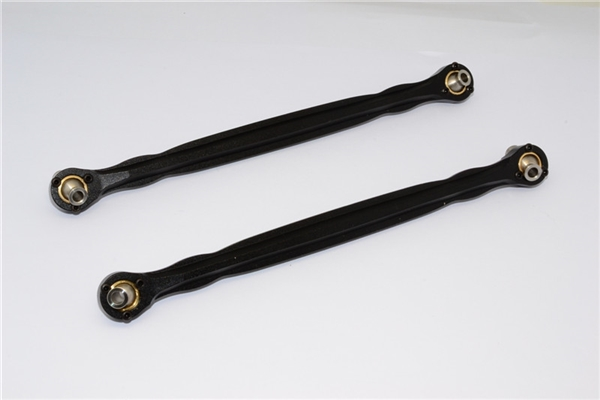 GPM Black Aluminum Front Steering Toe Links for X-Maxx