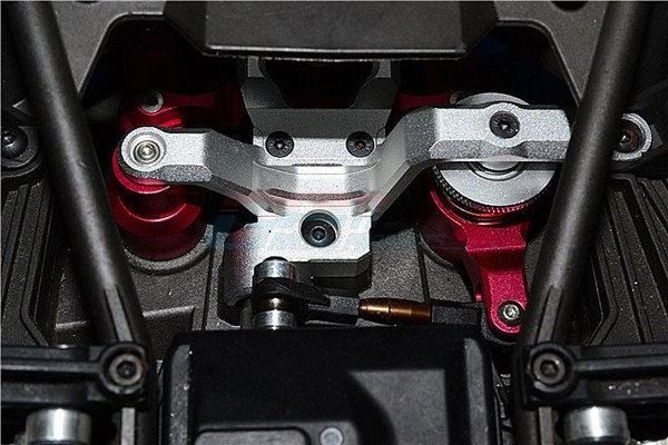 GPM Gunmetal Aluminum Steering Bellcrank Assembly & Servo Saver for X-Maxx