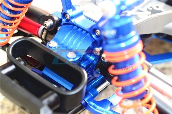GPM Aluminum Front Gearbox for 4x4 Slash Rustler Stampede (Gunmetal)