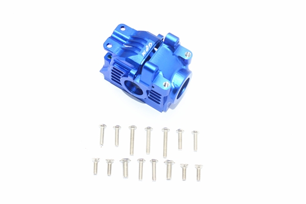 GPM Aluminum Rear Gearbox for 4x4 Slash Rustler Stampede (Blue)