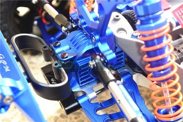 GPM Aluminum Rear Gearbox for 4x4 Slash Rustler Stampede (Black)