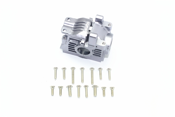 GPM Aluminum Rear Gearbox for 4x4 Slash Rustler Stampede (Gunmetal)