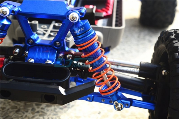 GPM Aluminum Front Adjustable Shocks for 4x4 Slash Rustler Stampede (Blue)