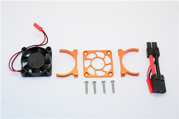 GPM Aluminum Motor Heatsink Fan for Slash 4x4 LCG (Orange)