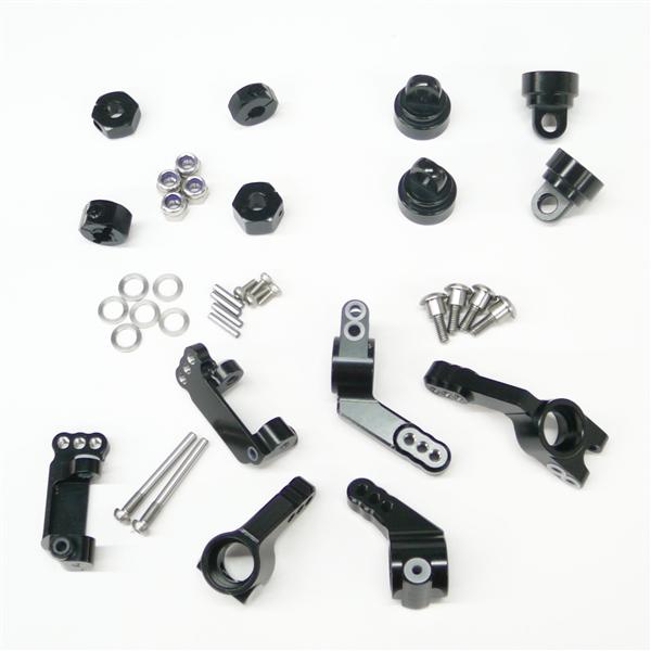 Gen3 RC Black Aluminum Suspension Upgrade for Traxxas 1/10 2WD Slash Rustler Stampede