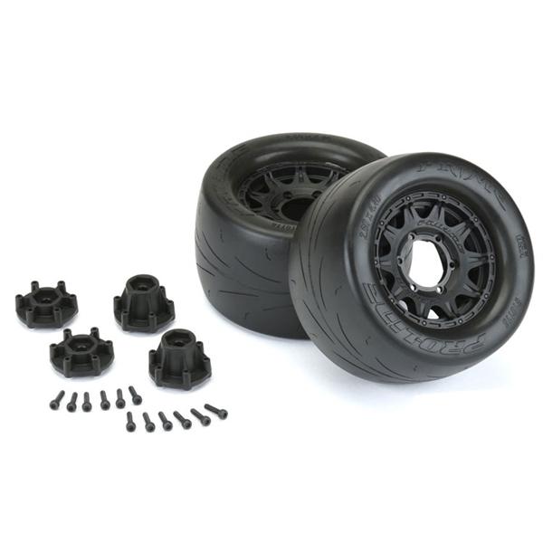 Pro-Line Prime 2.8 Tires on Raid Black 6x30 Front/Rear Wheels (2)