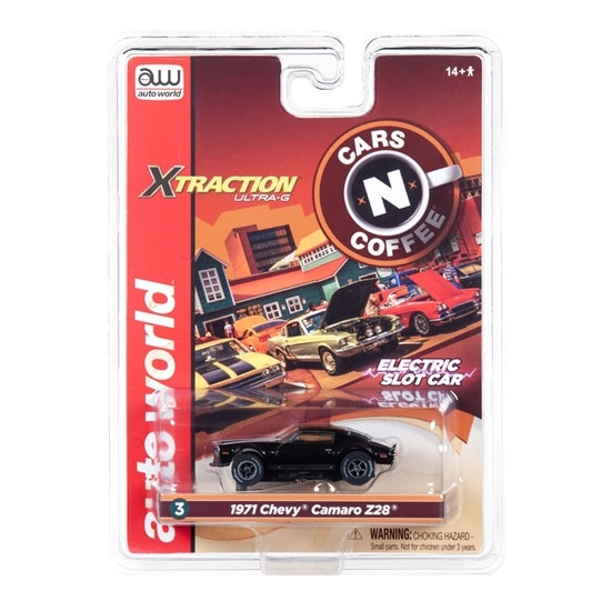 Auto World Xtraction R26 1971 Chevy Camaro Z28 (Black) HO Slot Car