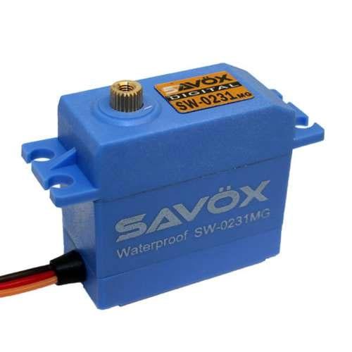 Savox SW-0231MG Waterproof Digital High-Torque Servo 208 oz/in