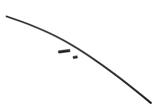 Traxxas Black Antenna Tube w/Cap & Wire Retainer