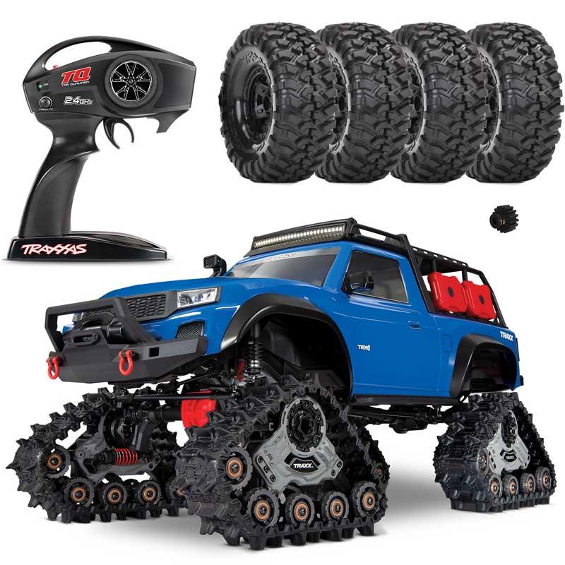 Traxxas TRX-4 Traxx Trail RC 4x4 Crawler RTR w/Full LED Kit, Deep Terrain Tracks & FREE TIRE SET