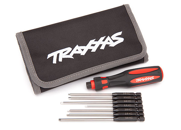 "Traxxas Speed Bit Master Set 7-Pc Metric Hex Driver Set 1/4"" Drive with Handle & Pouch (8711)"