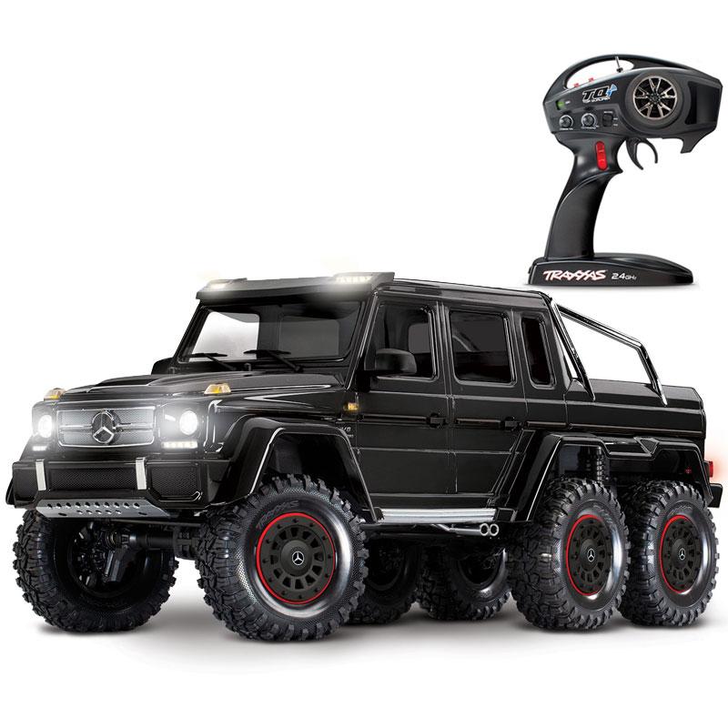 Traxxas TRX-6 Mercedes-Benz G63 6x6 Scale & Trail RTR RC Rock Crawler with Black Body (88096-4)