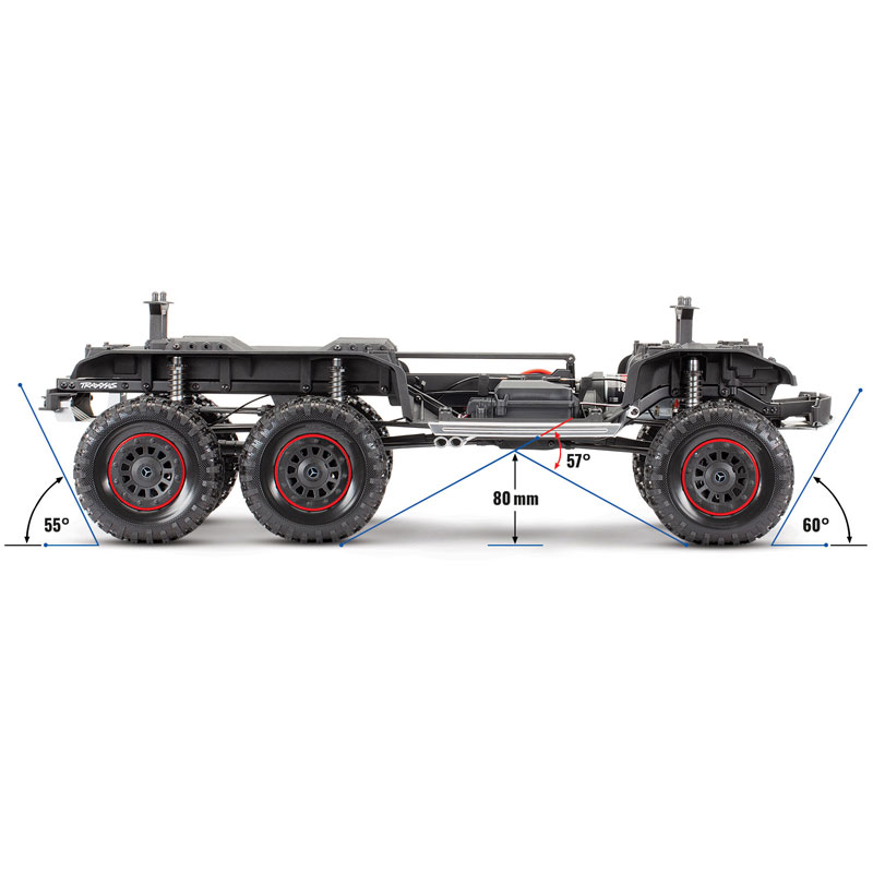 Traxxas TRX-6 Mercedes-Benz G63 6x6 Chassis Side View