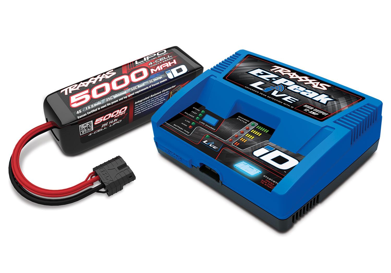2 3S 5000mAh 3s Lipo Battery COMBO Traxxas 2990 EZ-PEAK DUAL Charger /&