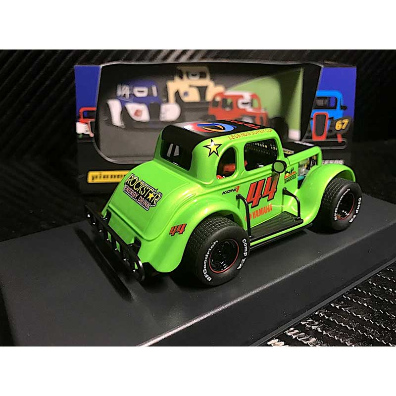 Pioneer 1934 Ford Coupe Legends Racer #44 Green 1/32 Slot Car (P082)