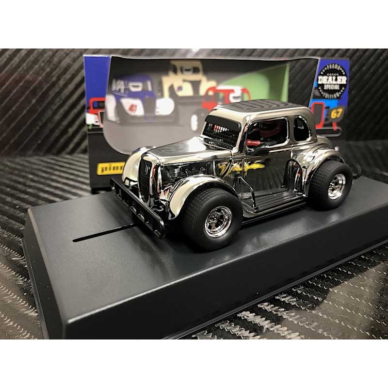 Pioneer 1934 Ford Coupe Legends Racer Silver/Chrome 1/32 Slot Car - DEALER SPECIAL (P116-DS)